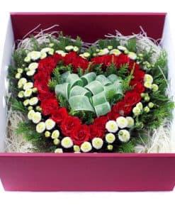 hộp hoa trái tim HH-012